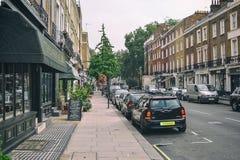 London UK, September 19, 2014, den tysta härliga London streen royaltyfria foton