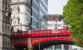 LONDON, UK - SEPTEMBER 19, 2015: Holborn Viaduct, 1863-1869.  Building cost was over £2 million Royalty Free Stock Photos