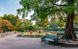 The Old Court House Recreation Ground in Barnet. London / UK - September 16, 2018: The Old Court House Recreation Ground, a public park in High Barnet in the stock photos