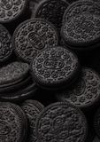 LONDON, UK - SEPTEMBER 05, 2018: Oreo cookies macro.Oreo is a sandwich cookie consisting of two chocolate wafers with cream fillin royalty free stock photo
