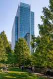 The Jubilee Park at Canary Wharf. royalty free stock photos