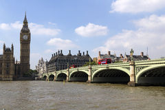 London, UK, 8 September 2013: The Thames and Big Ben. Royalty Free Stock Photography
