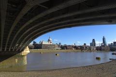 London, UK, 8 September 2013: The Thames St Paul's. Royalty Free Stock Image