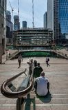 Around the Middle Dock, in Canary Wharf. stock image