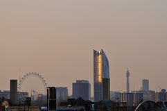 London UK skyline from the South East Royalty Free Stock Image