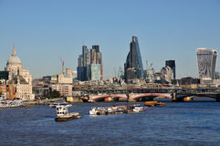 London UK skyline from Waterloo Bridge Stock Image