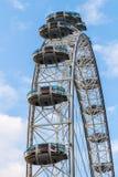 London UK - 1st April, 2017: Detalj av det London ögat (London, UK) Royaltyfri Foto