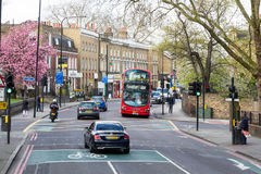 London UK - 1st April, 2017: Stad av London, sikt från en dubblett Arkivfoto