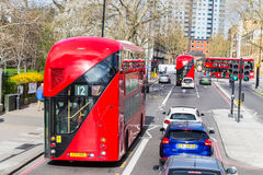 London UK - 1st April, 2017: Stad av London, sikt från en dubblett Royaltyfri Fotografi