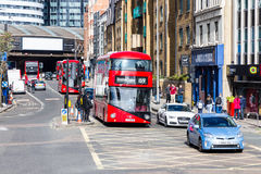 London UK - 1st April, 2017: Stad av London, sikt från en dubblett Royaltyfri Bild