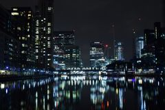 London UK 02/12/2017 Staden av de Europa bankledarna Royaltyfri Foto