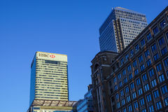 London, Uk - 6th April 2017: HSBC bank HQ in the city of London. HSBC is one of the UKs largest retail and investment Stock Image