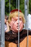 Anti-Donald Trump Protest in Central London. London,UK: 13th July 2018:Thousands of anti-Donald Trump protesters descended on central London in the summer heat stock images