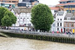 The Globe Theatre. London, UK - 5th June 2017: The Globe Theatre on the river Thames in London. This is a replica of the original playhouse built by William Stock Photography