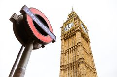 Big Ben and the London Underground Stock Photos