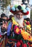 London UK - 16th Oktober, 2016: Borgmästaren av den London festivalen av Diwali aktörer och platser på Trafalgar Square Arkivbild