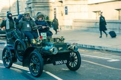 05/11/2017 London, UK, London till Brighton Veteran Cars Run arkivbild