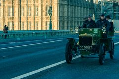 05/11/2017 London, UK, London till Brighton Veteran Cars Run Fotografering för Bildbyråer