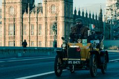 05/11/2017 London, UK, London till Brighton Veteran Cars Run Arkivbild