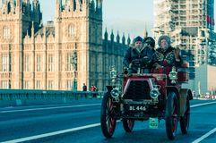 05/11/2017 London, UK, London till Brighton Veteran Cars Run Royaltyfri Foto