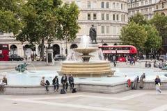London UK, Trafalgar Square Arkivbild