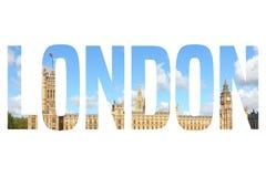 London. UK - travel postcard word sign. City name text Stock Image