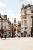 LONDON, UK - Urban landscape and people, view from Trafalgar square Royalty Free Stock Photos