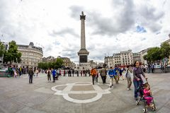 LONDON, UK - Urban landscape and people royalty free stock photo