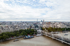 22.07.2015, LONDON, UK. View of London from London Eye Stock Images