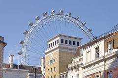 London, uk. A view of  london´s southbank with the london eye in the background, London, uk Stock Image