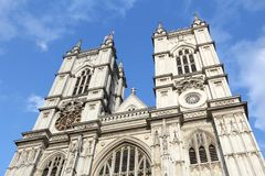 Westminster Abbey, London. London, UK - Westminster Abbey facade view. UNESCO World Heritage Site Stock Image