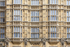 London, UK, Windows of Houses of Parliament Royalty Free Stock Photography