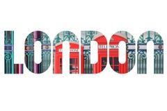 London. UK - word sign. City name text Stock Image