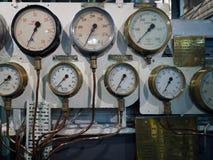 LONDON/UK - WRZESIEŃ 12: Ciśnieniowe klapy na HMS Belfast w Lonie Zdjęcie Royalty Free