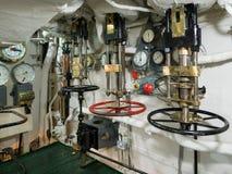 LONDON/UK - WRZESIEŃ 12: Ciśnieniowe klapy na HMS Belfast w Lonie Obrazy Royalty Free
