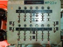 LONDON/UK - WRZESIEŃ 12: Telefoniczny Kontrolny pudełko na HMS Belfast Obrazy Royalty Free