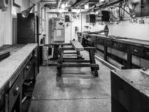 LONDON/UK - WRZESIEŃ 12: Warsztat na HMS Belfast w Londyn dalej Zdjęcie Royalty Free