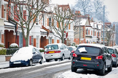 london ulicy zima obraz stock