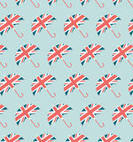 London Umbrella Pattern. England Vintage Pattern Illustration Flat Stock Image