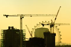 London under construction royalty free stock photos