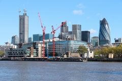 London under construction Royalty Free Stock Photos
