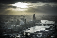 London under dramatic skies royalty free stock images