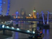 London under the fog. London night view under the fog stock photography
