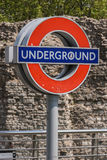 London Underground. A transport for London underground sign at the Tower Hill station in London Royalty Free Stock Images