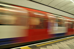 London Underground accelerating. London Underground in Motion Blur Stock Images