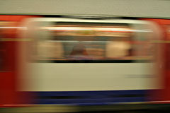 London Underground accelerating. London Underground in Motion Blur Royalty Free Stock Image