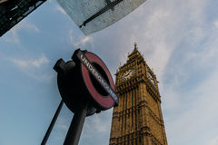London-Underground and Big Ben Royalty Free Stock Images