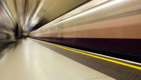 London Underground. Blurred train in london underground Royalty Free Stock Photography