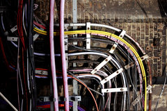 London Underground cables Stock Photography
