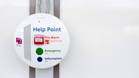 London Underground help point Royalty Free Stock Images